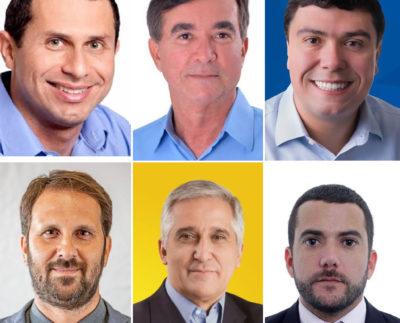 Foto: Seis primeiros colocados na pesquisa estimulada