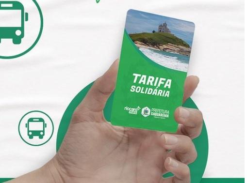 cartão tarifa solidária saquarema